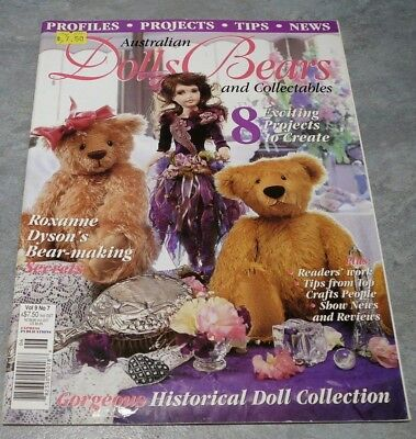 Australian Dolls, Bears and Collectables Vol. 9 No. 7 cute toys collecting