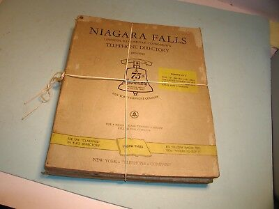 Three 1954-1960 Niagara Falls, NY Telephone Books
