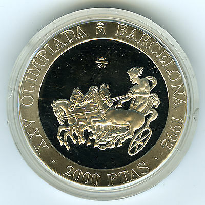 # Spain 1992 ☆ Silver 2000 Pts • Barcelona'92 Olympic Games Chariot Proof ☆C3510