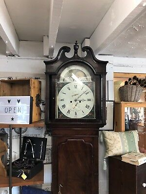 Antique 8 Day Grandfather Clock - Wignall Ormskirk C.1820