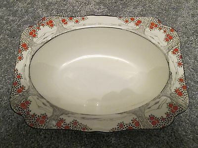 Art Deco Crown Ducal ~ Orange Tree Pattern ~ Oblong Serving Dish antique pottery