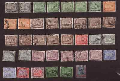 Malaya State of Selangor lot used stamps from 1935 definitives