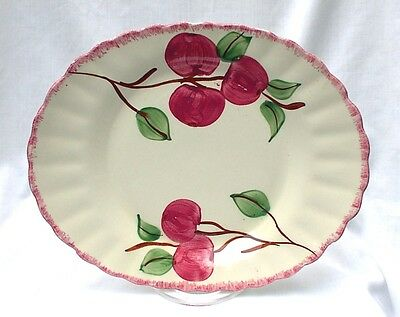 "Blue Ridge Southern Potteries Crab Apple 12"" Platter As Is"