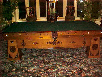 Brunswick Balke Collender Custom Antique 9' Billiard Pool Table Great Condition