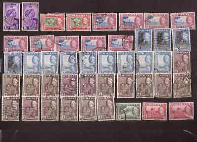 Malaya State of Selangor lot of used stamps from the 1950s to the 2000s