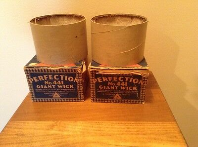 2 new old stock No 441 Perfection Giant Wicks for oil cook stoves water heaters