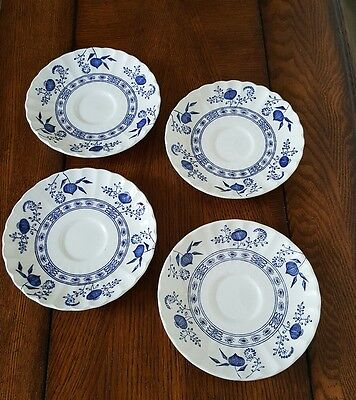 J&G Meakin Blue Nordic (Onion) Set of 4 Saucers