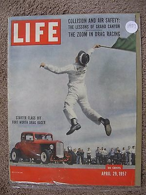 1957 Life Magazine Cover Fort Worth Drag Racing Great To Frame ( Cover Only )