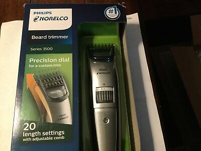 Philips Norelco Cordless Beard trimmer Adjustable Length Series 3500 QT4018/49