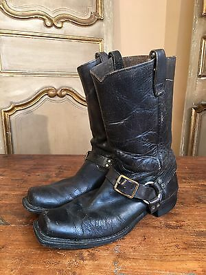 VTG 1950's Motorcycle Biker Side Harness Nylon Sole Mens Boots Size 9.5 Rare!!!