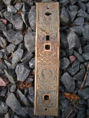 Antique Ornate  Windsor Brass door Back plate # 2331