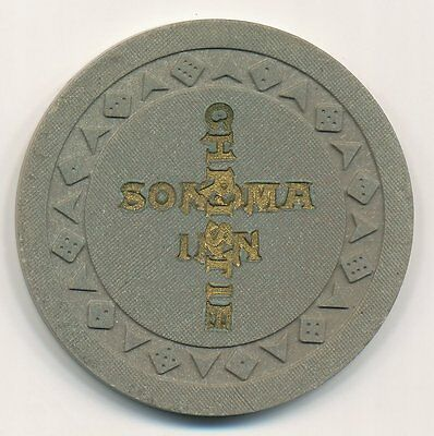 Sonoma Inn Winnemucca 2nd Issue $5 House Casino Chip Arodie Mold  Overstamped R5