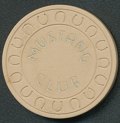 Mustang Club Ely Nevada Casino Chip Horshu Mold Obsolete 1967 Beige R8