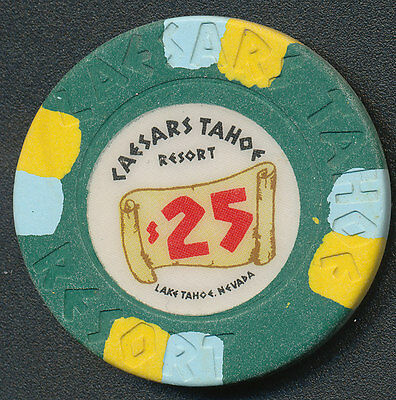 Caesars Lake Tahoe 2nd Issue $25 Chip R5