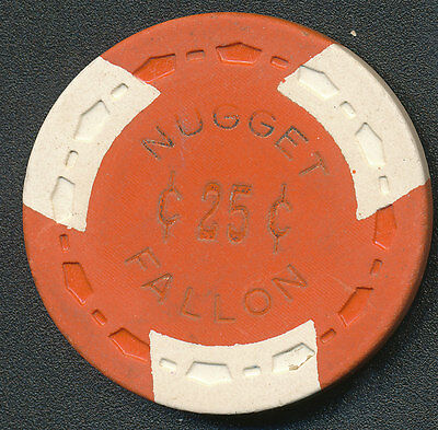 Fallon Nugget 3Rd Issue $.25 Orange Chip R8