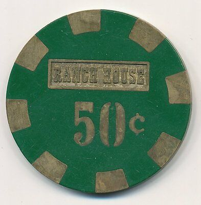 Ranch House Casino Wells 3rd Issue $.50 Cent Chip