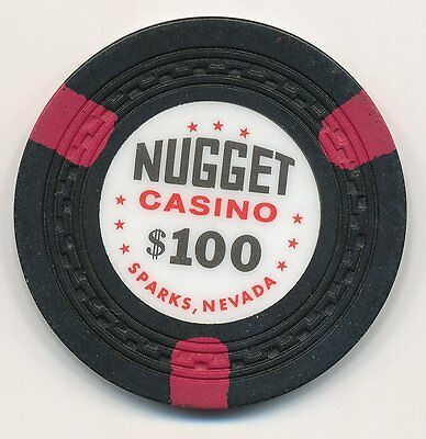 NUGGET CASINO SPARKS NV $100 CHIP ZIGZAG MOLD 1950's