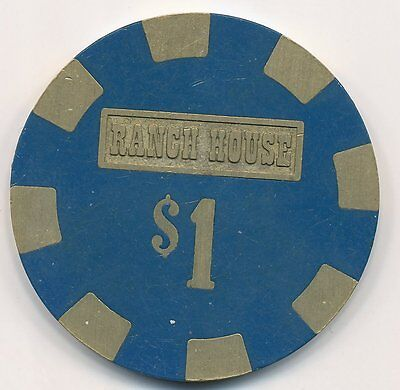 Ranch House Casino Wells 3rd Issue $1 Chip
