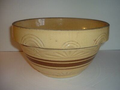 Vintage RRP Robinson Ransbottom Large Heavy Yellow Ware Mixing Bowl