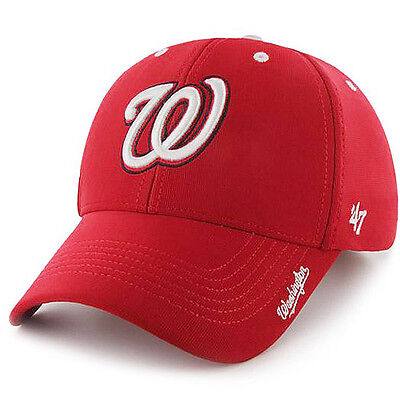best loved d331d 28f87 Washington Nationals 47 Brand Condenser MVP Adjustable Hat Baseball Cap Red