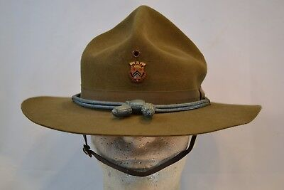Original Wwi Us Army M 1911 Campaign Hat R.o.t.c. Infantry Cord  Stetson Nice