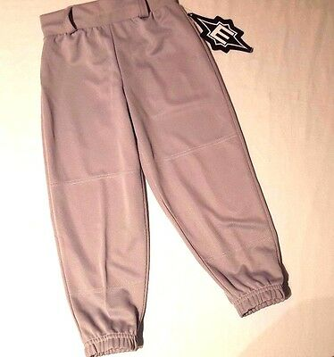 EASTON Kids Baseball Pants Elastic Waist Pull Up Boy/Girl Size YXS Gray Lot 16-3