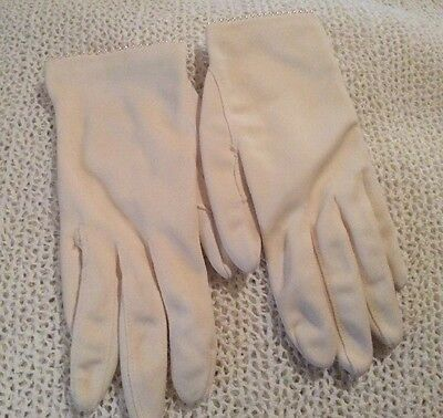 Pair Of Vintage White Dress Gloves. Very Small Prob Child Size