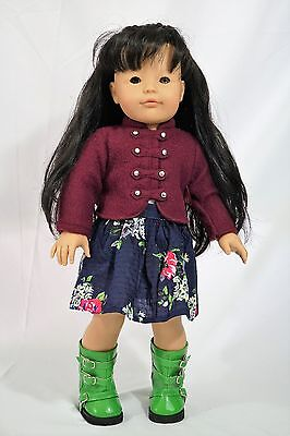 "Gotz doll 18"" Asian doll black hair and two tone eyes brown and gray"