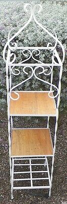 Vintage Wrought Iron 3 Tier Plant Stand