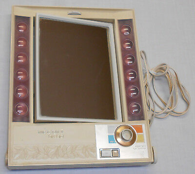 Vintage Clairol True To Light Ii Daylight Make-Up Magnifying Lighted Mirror