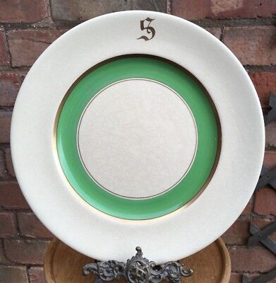 Vintage Grays Pottery Art Deco Hand Painted Green Display Plate Dinner Plate