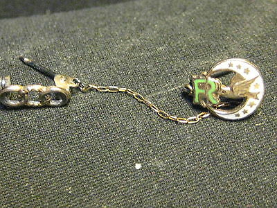 Vintage 2 Tiny 10K Gold Top Rebekah Lodge Oddfellows Chained Pins