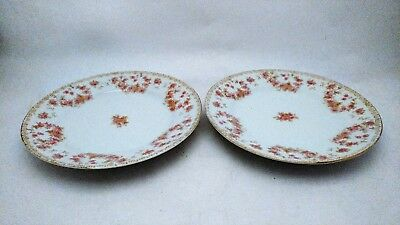 "Pair of Noritake Nippon 6 1/2"" Bread & Butter Plates With Roses"