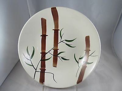 Vtg American Heritage Large Bowl Server Bamboo Design Hand Painted. EEUC