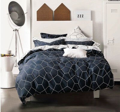 Queen/King/SuperKing Size Bed Duvet/Doona/Quilt Cover Set New Ar M365