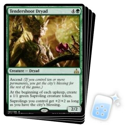 TENDERSHOOT DRYAD X4 Rivals Of Ixalan RIX Magic MTG MINT CARD