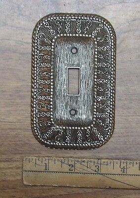 Vintage 1968 American Tack & Hdwe. 50D Fancy Switch Cover,Pewter Look