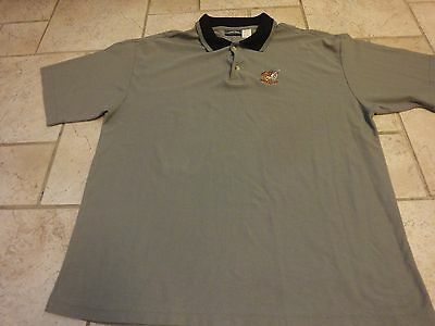 Vintage 1999 Looney Tunes Taz Tasmanian Devil Sewn Golf Tour Polo Shirt XL 48