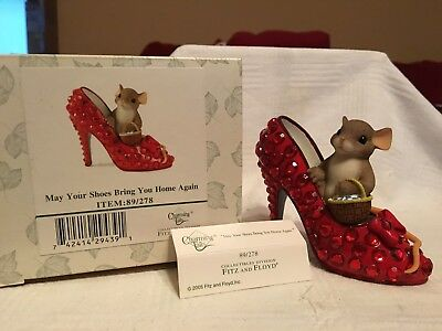 """Charming Tails """"MAY YOUR SHOES BRING YOU HOME AGAIN"""" DEAN GRIFF NIB 👠"""