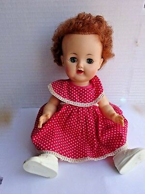 """Vintage Ideal Betsy Wetsy 12"""" VW1  Red Hair Blue Eyes"""