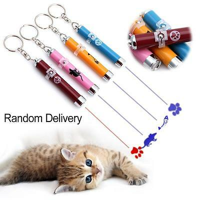 Interactive LED Training Funny Cat Play Toy Laser Pointer Pen Mouse Animation MT