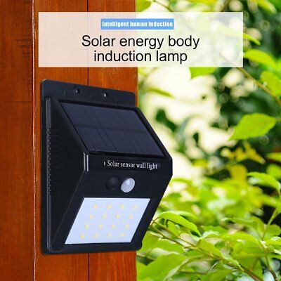 16 LED Solar Power Sensor Wall Light Motion IP65 Weatherproof Outdoor Lamp TKR