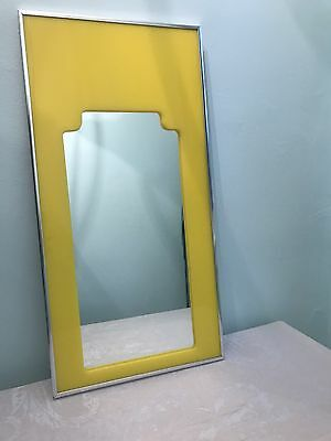 Carvers Guild Mid Century Modern Yellow Lucite Chrome Mirror Lux 1960s statement
