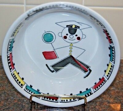 Vintage Rorstrand Sweden Tuff Tuff Train Plate