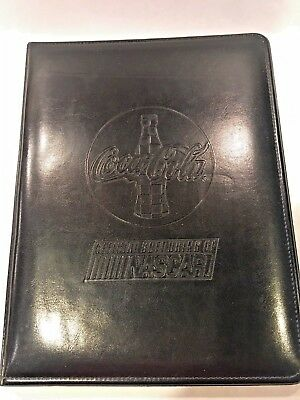 Coca-Cola Racing - Official Soft Drink of NASCAR - Black Embossed Folio/Notebook