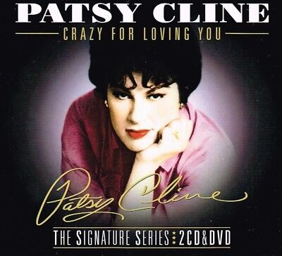 "PATSY CLINE New DVD (region 4) & 2 CD set ""CRAZY FOR LOVING YOU"" 66 tracks3"