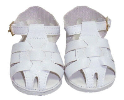 Doll Shoes - White Fisherman Sandal - Ideal for Reborn Dolls