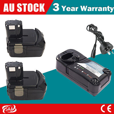 18V Li-ion 3.0Ah Battery For HitachI EBM1830 BCL1815 Drill Driver+ Rapid Charger