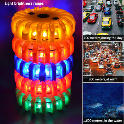 Rechargeable LED Road Flares Flashing Warning Roadside Safety Light Car Truck
