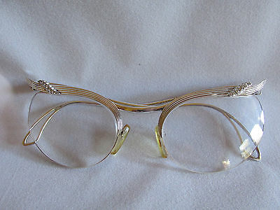 Superb Gotte Zurich glasses 18ct white gold and diamonds retro look glass frames